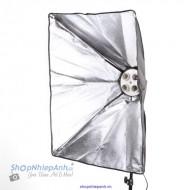 Combo chuôi đèn 4 bóng và softbox 50x70cm
