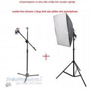 Combo chụp ảnh sản phẩm livestream smartphone (basic)