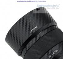 Combo dán Carbon bảo vệ Lens Sony FE 50f1.8