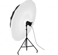 Combo dù phản trắng và vải softbox 150cm