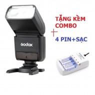 Combo Flash Godox TT350O for Olympus Panasonic Leica tặng kèm bộ pin sạc