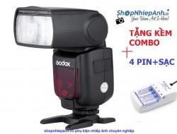Combo Flash Godox TT600 tặng kèm bộ pin sạc