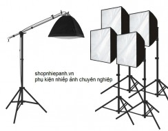 Combo full kit đèn studio softbox 50x70cm
