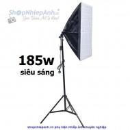 Combo kit đèn chụp sản phẩm softbox 50x70 185w ánh sáng vàng