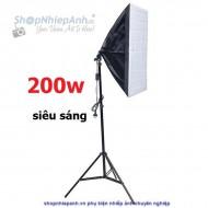 Combo kit đèn chụp sản phẩm softbox 50x70 200w ánh sáng trắng