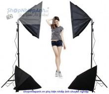 Combo kit đèn chụp sản phẩm softbox 50x70 Professional