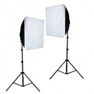 Combo kit trọn bộ đèn 4 bóng softbox 50x70cm