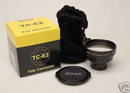 Combo Nikon Teleconvert TC-E2 và Wideconvert WC-E63