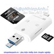Đầu đọc thẻ otg SD/micro SD dành cho Iphone Android PC