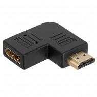 đầu nối HDMI male-HDMI female hình chữ L kiểu dẹp