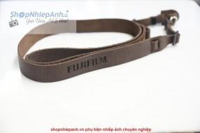 Dây đeo da Fujifilm nâu