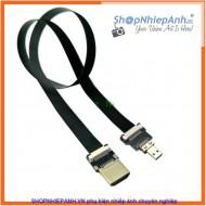 Dây Dẹp HDMI to Micro HDMI 50 cm (siêu mỏng)