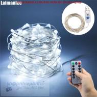 Dây đồng LED nghệ thuật 5m màu trắng dùng usb có remote