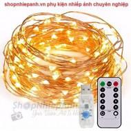 Dây đồng LED nghệ thuật 5m màu vàng dùng usb có remote