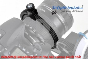 Follow focus zoom handle lever with gear belt (Flexible Zoom Ring)