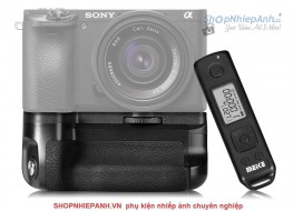 Grip Meike Pro for sony A6500 with 2.4GHz LCD timelapse remote