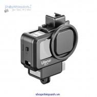 Khung Gopro 9 có khe gắn micro adapter led Ulanzi G9-4