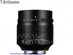 Lens 7ARTISANS 75mm F1.25 for Fujifilm FX