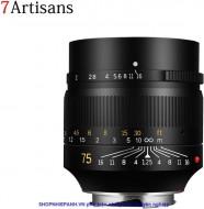 Lens 7ARTISANS 75mm F1.25 for Sony E mount fullframe