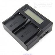 Máy sạc pin đôi có LCD  for sony F970 F550 F770