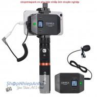 Micro thu âm wireless UHF Comica CVM-WS50A for smartphone