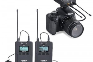 Microphone wireless UHF Comica WM200A (2 phát 1 nhận)