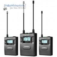 Micro thu âm wireless UHF Comica WM300A (2 phát 1 nhận)