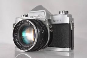 Minolta SR-1 và lens minolta rokkor 55f1.8