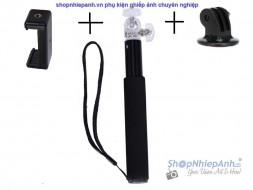 Monopod for gopro và điện thoại
