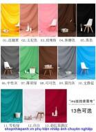 Phông nền vải cotton muslin 1m8x3m colorful cao cấp