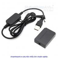 Pin ảo Canon LP-E12 nguồn USB (dùng nguồn dự phòng và điện trực tiếp)