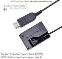 Pin ảo Dummy Canon LP-E12 E15 E17 nguồn USB (type A)