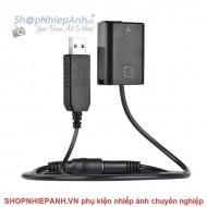 Pin ảo Dummy Canon LP-E6 nguồn USB