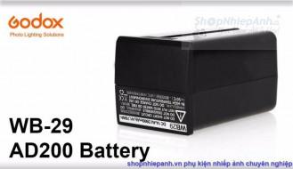 Pin Godox WB29 cho đèn Godox AD200
