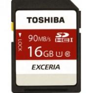 SDHC Toshiba 16GB Exceria 90mb/s UHS-I class 10