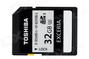 SDHC Toshiba 32G Exceria 95mb/s
