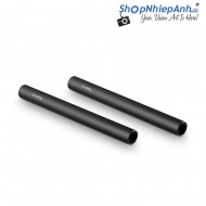 SmallRig 2pcs 15mm Black Aluminum Alloy Rod(M12-15cm) 6inch 1050