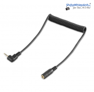 Smallrig Coiled Male to Female 2.5mm LANC Extension Cable 2201