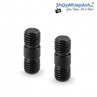SmallRig Rod Connector with M12 Thread for 15mm Aluminum Alloy Rods (Pack of 2) - 900