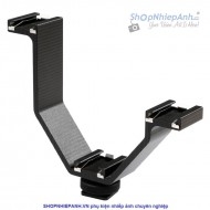 Triple mount hot shoe bracket Micnova