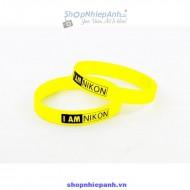 vòng đeo silicon I AM NIKON yellow